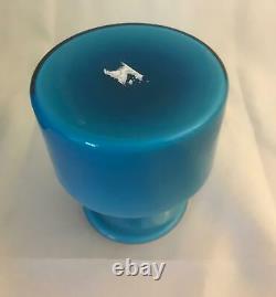 Smallest Size Carnaby Blue Vase Holmegaard Per Lutken MCM 1960s