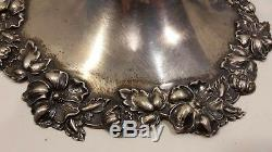 Sterling Silver Centerpiece Cobalt Blue Vase Lamp
