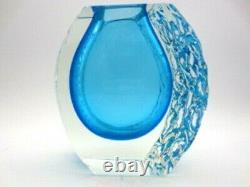 Stunning Rare Alessandro Mandruzzato Sommerso Space Age Murano Art Glass Vase