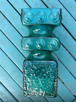 Superb RIIHIMAKI GLASS KEHRA VASE 1496 by TAMARA ALADIN AQUA BLUE Exc Cond