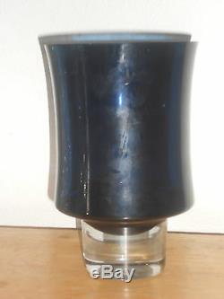 Tapio Wirkkala Signed Dark Blue Pedestal Vase