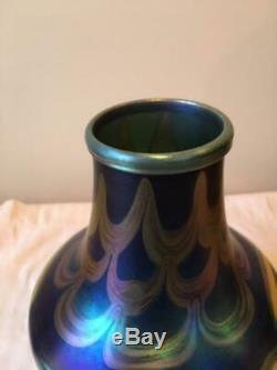Tiffany Studios Favrile Blue Vase