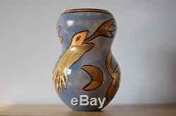 Ulrica Hydman Vallien Kosta Boda vase gold decor Sweden Art Glass collectible
