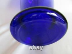 Vase Cobalt Blue Crystal Large Blown Old Pilgrim Art Glass 14in Tall Gorgeous