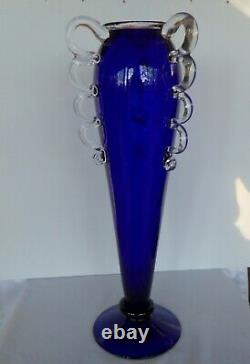 Vase by Czech glass artist Borek Sipek signed and numbered