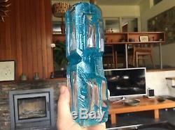 Vintage 1970s Brutalist Modernist Blue Argos Vase by Cesar Baldaccini for Daum
