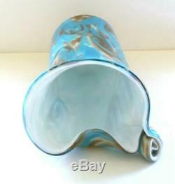 Vintage 50's Fratelli Toso Van Gogh Starry Night Murano Art Glass Vase Published