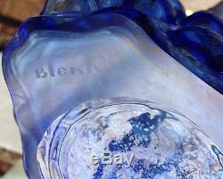 Vintage Blenko Turquoise Vase Bubble Wrap Vase #6041 Designed By Wayne Husted