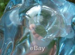 Vintage ORREFORS VICKE LINDSTRAND STELLA POLARIS VASE ICE BLUE 2251/3