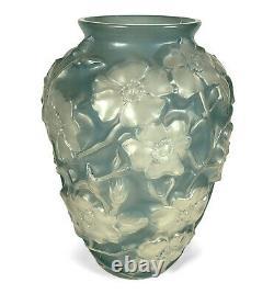 Vintage Phoenix / Consolidated Art Glass Blue-green Dogwood Vase Reuben Haley