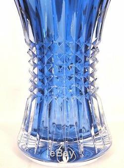 WATERFORD Crystal Lismore Diamond 8 Vase Sapphire Lead Crystal # 161024