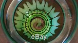 WATERFORD Evolution OCEAN TIDE 12 DISCONTINUED Vase Blue & Green Art Glass