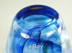 WHITEFRIARS Glass Rare CIRRUS Vase Sky Blue 9889