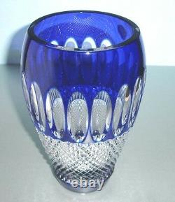 Waterford COLLEEN Cobalt Blue Crystal Vase 8 60th Anniversary New In Box
