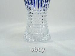 Waterford Crystal Lismore Diamond Cobalt Blue Vase Mint