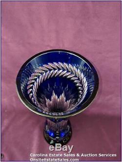 Waterford Fleurology Cobalt Amy Bouquet Vase 14