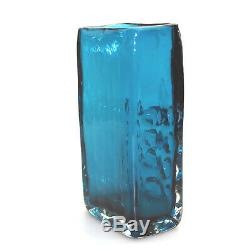 Whitefriars Art Glass Kingfisher Blue Mobile Phone Vase Geoffrey Baxter C. 1969