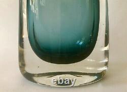 Whitefriars Indigo Cased Glass Vase Geoffrey Baxter c. 1965 Pat No. 9651