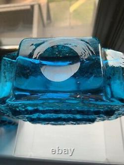 Whitefriars Kingfisher Blue T. V. Vase With Label