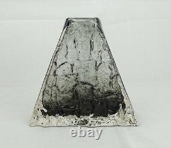 Whitefriars Pewter Pyramid Vase By Geoffrey Baxter c1960s