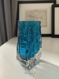 Whitefriars Stunning Blue Coffin Vase