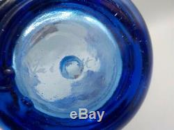 XL Fire and Light Cobalt Blue Splash Vase 11.5 Recycled Art Glass Exc